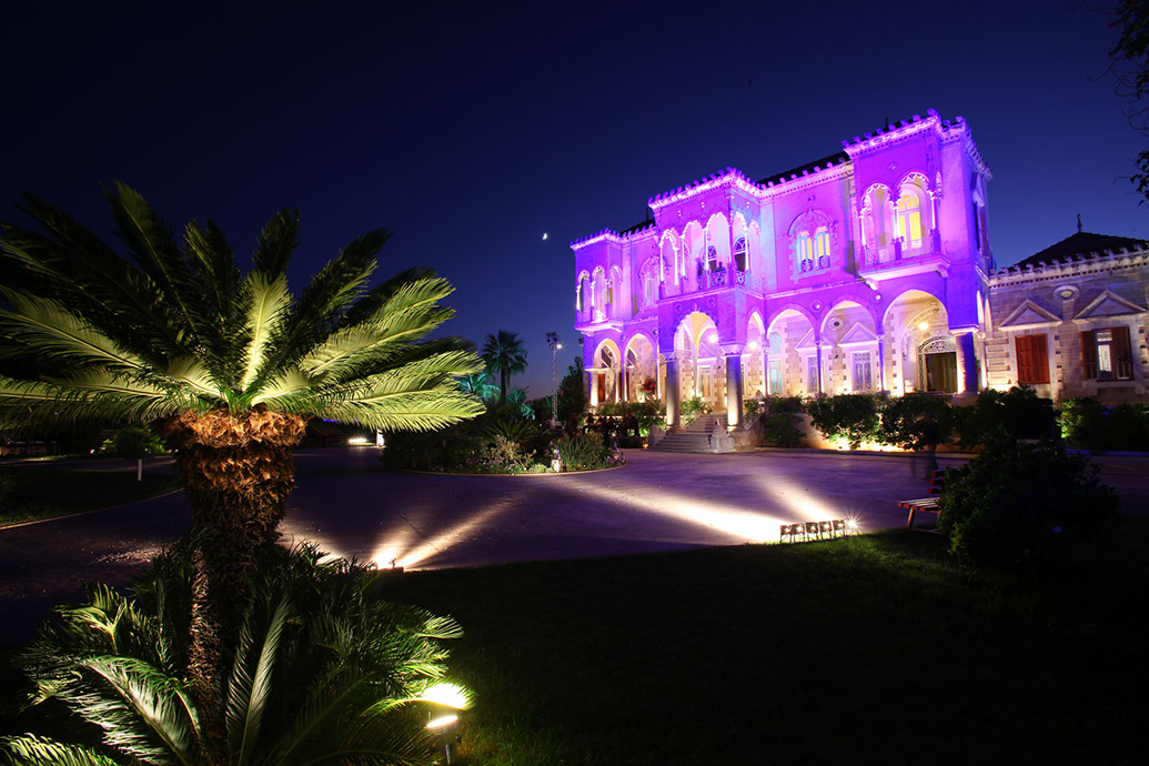 Saray Nassib Basha at night scenic location overlooking the sea, Sidon, Lebanon, Dinner, Garden View, Venue, Wedding,Palaces